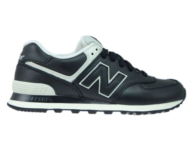 best website 83eed 40a53 ML574LUC New Balance 574 Black Leather