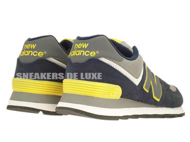 ML574SBY New Balance 574 Navy Yellow Grey