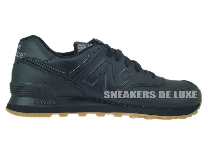 70a0a1843 sneakers: NB574BAB New Balance Leather Black/Gum NB574BAB