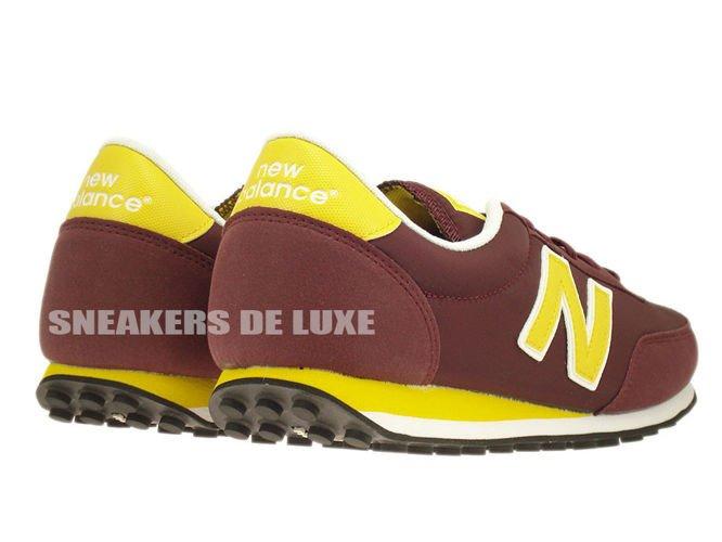 English  New Balance U410NYB 410 Burgundy   Yellow U410NYB New ... 7f4fc8d0e4be