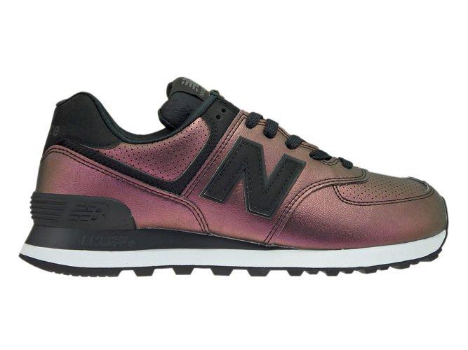 New Balance WL574KSB Sheen Pack Black