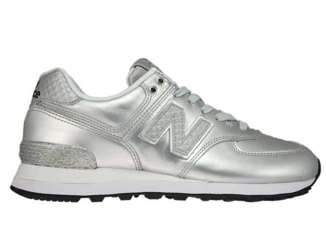 New Balance WL574NRI Glitter Punk Silver