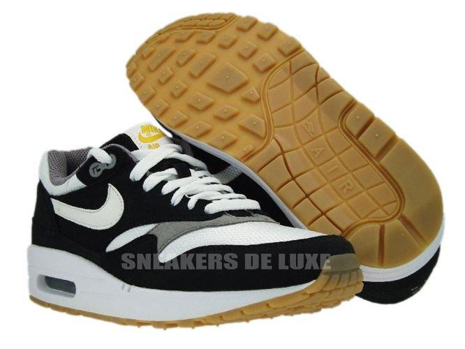 hot sales c9642 a4444 ... Nike Air Max 1 Black White-Light Charcoal Gum Light 319986-008 ...