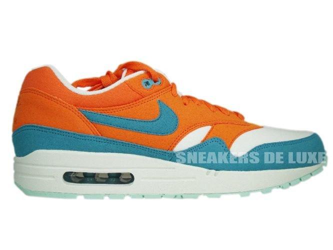 a46b5b83349b55 English  Nike Air Max 1 Bright Mandarine Mineral Blue 308866-800 ...