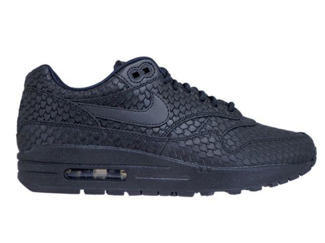 185661ff4efb7 Nike Air Max 1 Premium 454746-014 Black/Black-Anthracite