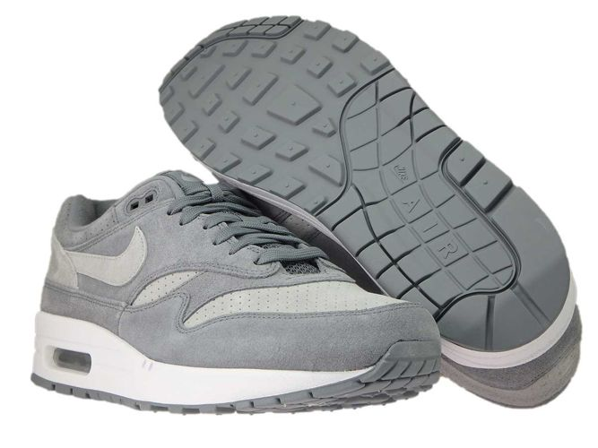 the latest c9a29 d42fa ... Nike Air Max 1 Premium 875844-005 Cool Grey Wolf Grey-White ...
