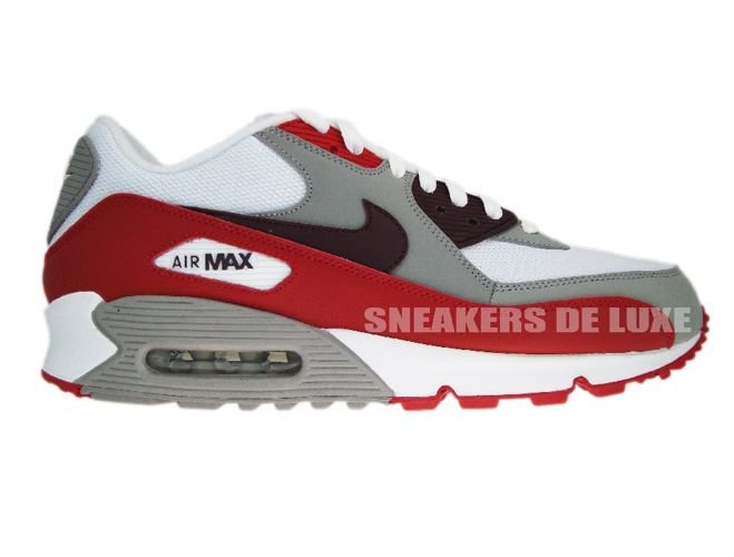 af480374aa sneakers: Nike Air Max 90 309299-128 White/Deep Burgundy-Varsity-Red ...