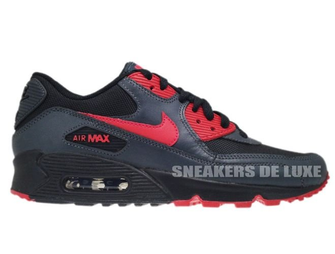 finest selection 174ad f87ba Nike Air Max 90 Black Siren Red-Anthracite 325213-020 ...