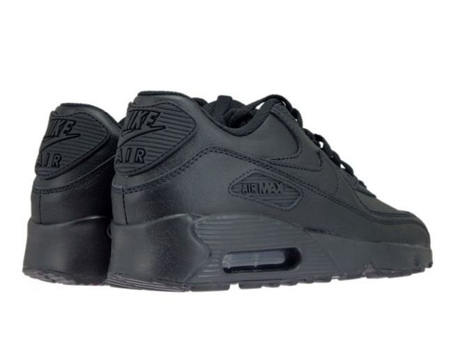 bdd1bda7866f English  Nike Air Max 90 GS 833412-001 Leather Black Black 833412 ...