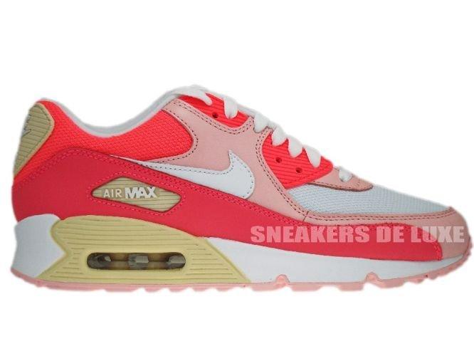 English  Nike Air Max 90 Hot Punch White Storm 325213-605 325213-605 ... ff8bae476