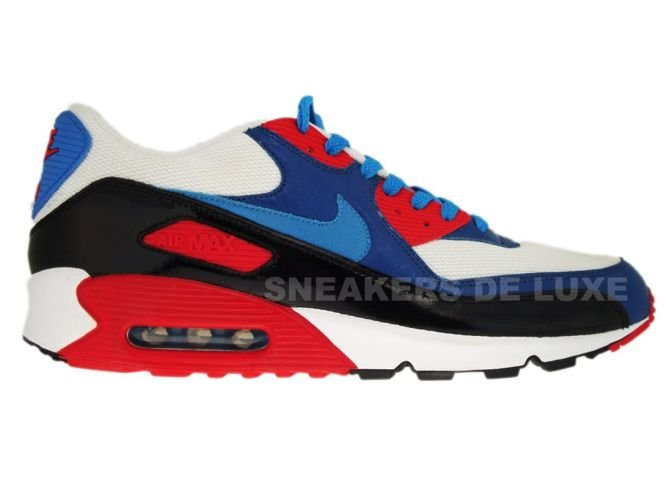 84764728f9 sneakers: Nike Air Max 90 ID White/Laser Blue-Atom Red 352641-141 ...
