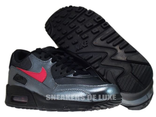 new style bd727 496b8 ... Nike Air Max 90 Metallic Hematite/Bright Cerise-Black 345017-007 ...