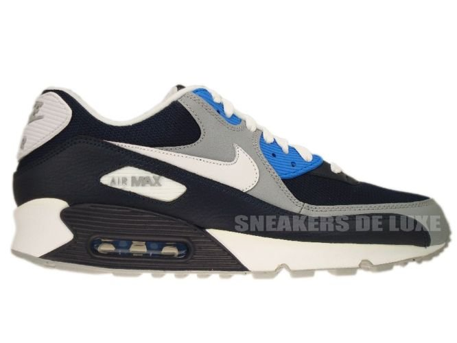 best service d14dc a8257 Nike Air Max 90 Obsidian Wolf Grey-Photo Blue 325018-419 ...