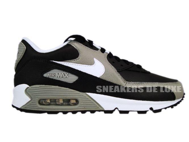 big sale fe025 e1530 Nike Air Max 90 Premium Black White-Medium Grey 333888-008 ...