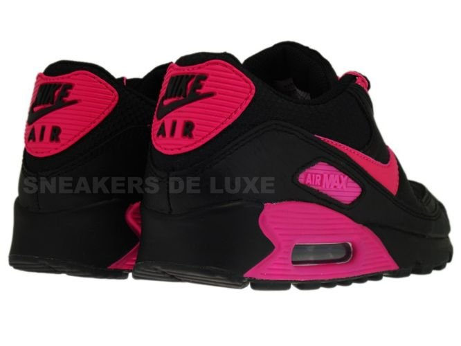 English  Nike Air Max 90 Premium LE Black Vivid Pink 375572-061 ... 8971d7c3f