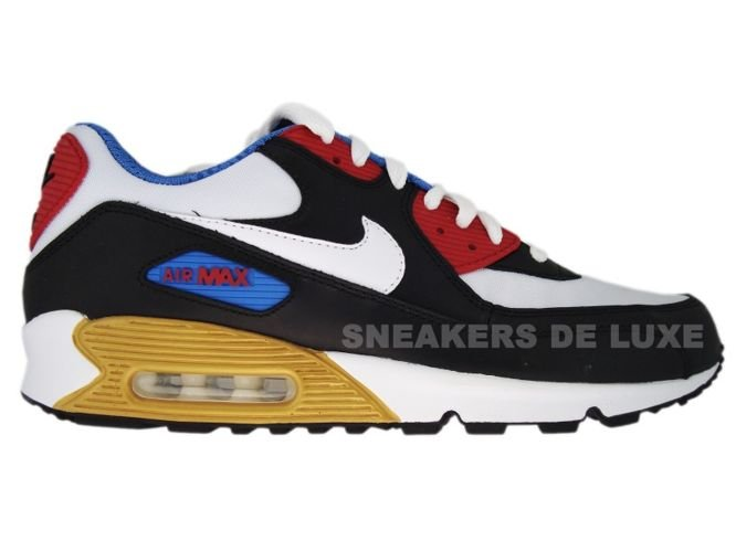d17d4f1212a6 Nike Air Max 90 Premium LE Black White Varsity Red Varsity Blue 333888 ...