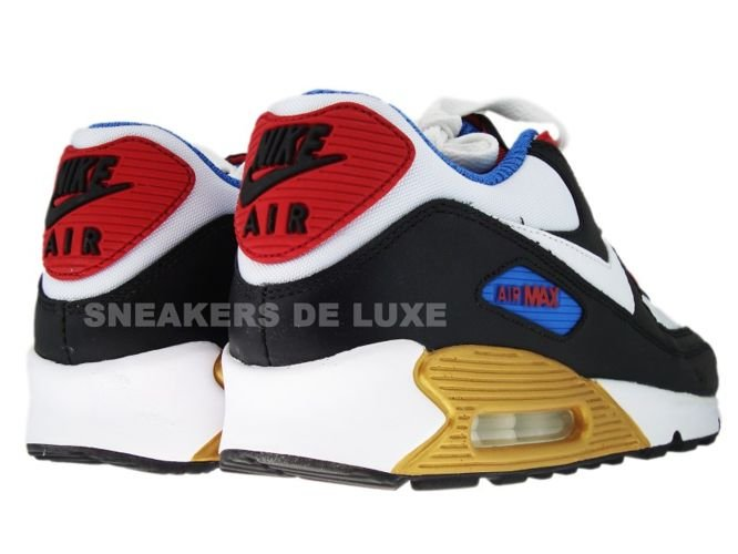 8d2a5568b2 ... Nike Air Max 90 Premium LE Black/White/Varsity Red/Varsity Blue 333888  ...