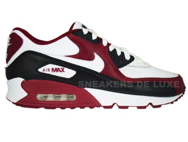 hot sale online 8d758 01177 Nike Air Max 90 Premium White-White-Team Red-Black 333888-101 ...