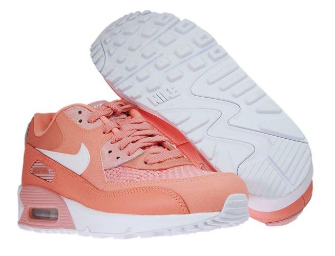 881105 604 Nike Wmns Air Max 90 SE Crimson BlissWhite