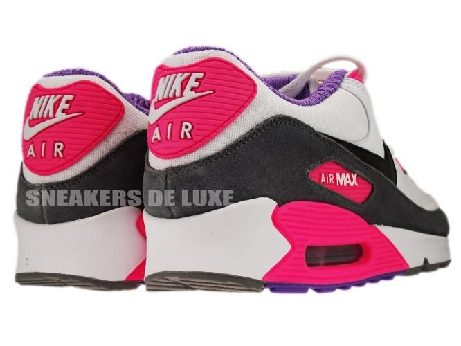 0171fb2178f English  Nike Air Max 90 White Black Cool Grey Pink 325213-103 ...
