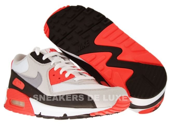 online store 4c437 25f71 ... Nike Air Max 90 White Cement Grey-Infrared-Black 325018-107 ...