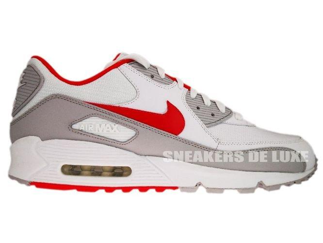 a81c2e276f sneakers: Nike Air Max 90 White/Team Orange-Neutral Grey 309299-121 ...