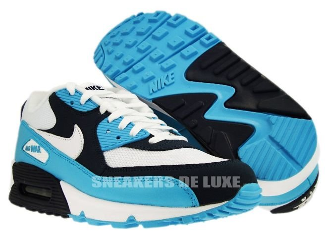 best website dad2c aff21 ... Nike Air Max 90 White White-Chlorine Blue-Obsidian 309299-129 ...