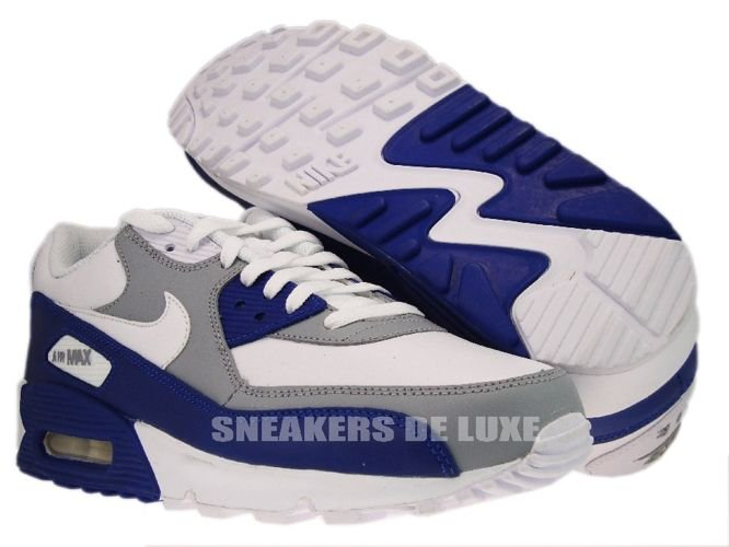 English  Nike Air Max 90 Wolf Grey Drenched Blue 309299-130 309299 ... 4d6472f03294