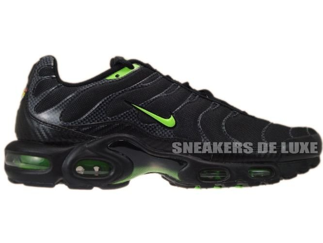 sale retailer 46b7b 591ad Nike Air Max Plus TN 1 Black Electric Green ...