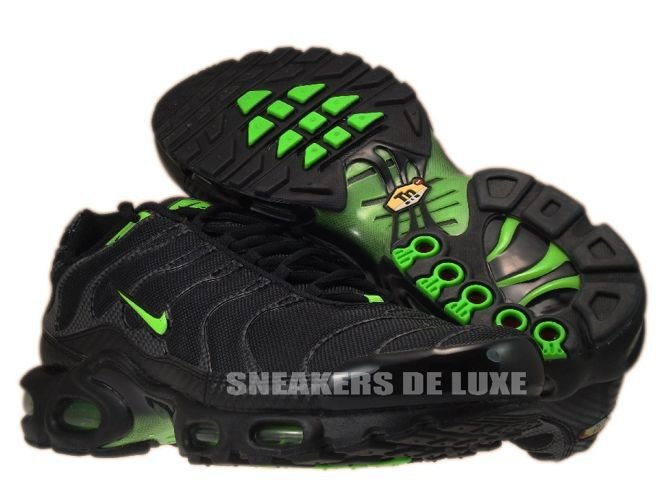 pretty nice bf1d1 de687 ... Nike Air Max Plus TN 1 Black Electric Green ...