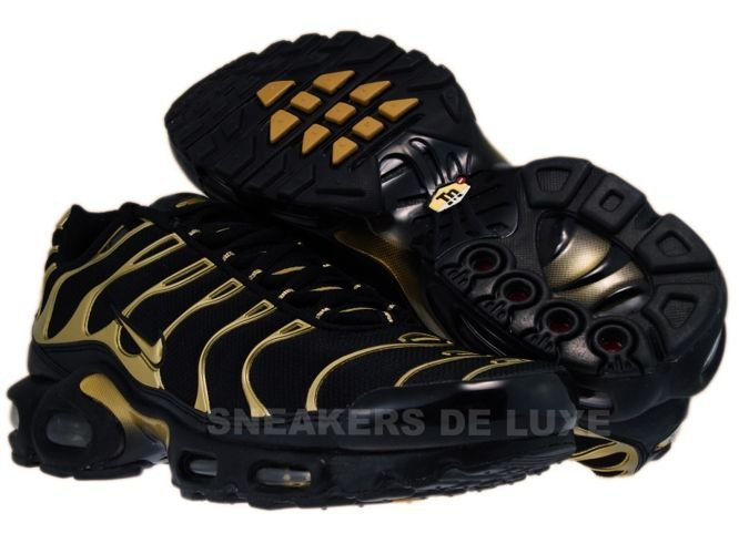 cheaper 345c8 014f1 English  Nike Air Max Plus TN 1 Noir Metallic Or Noir 605112 020