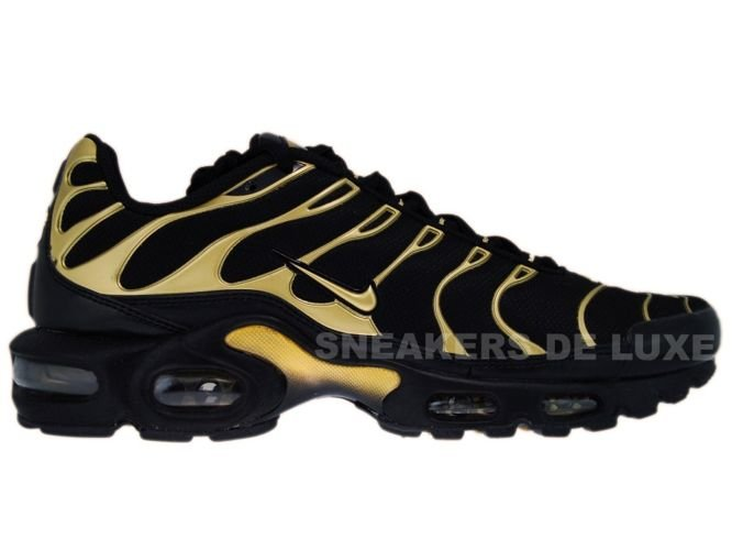 lowest price 0311d 05d0c Nike Air Max Plus TN 1 Black Metallic Gold-Black ...