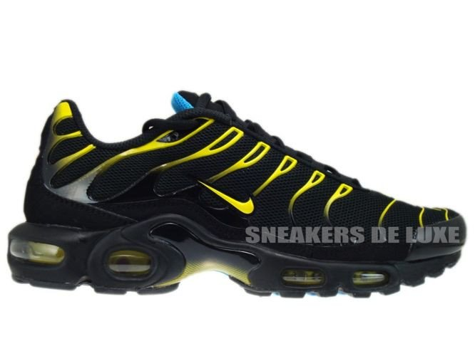 bc1f665ccf5 English  Nike Air Max Plus TN 1 Black Tour Yellow-Dynamic Blue ...