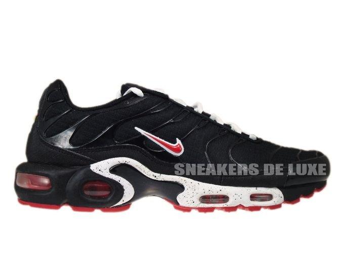 competitive price 96bec 81879 Nike Air Max Plus TN 1 BlackUniversity Red-White ...