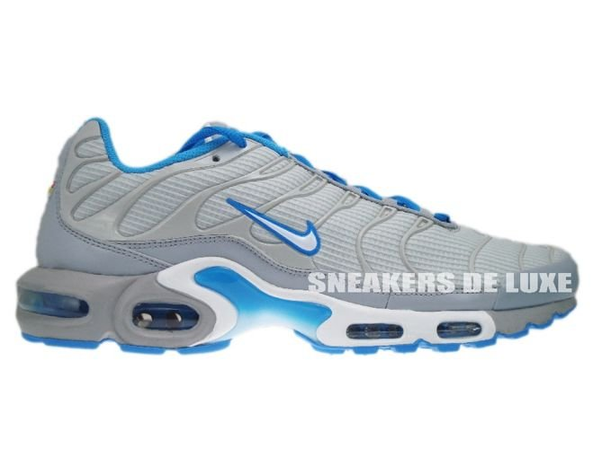 online store 26de9 0393e Nike Air Max Plus TN 1 Neutral Grey White-Blue Glow ...