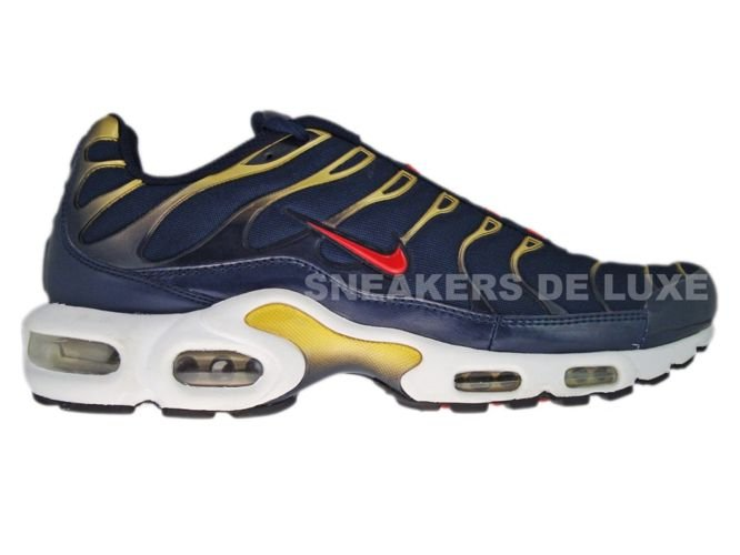 uk availability d039b 08f9a Nike Air Max Plus TN 1 Obsidian Sport Red-Metallic Gold-Black 604133 ...