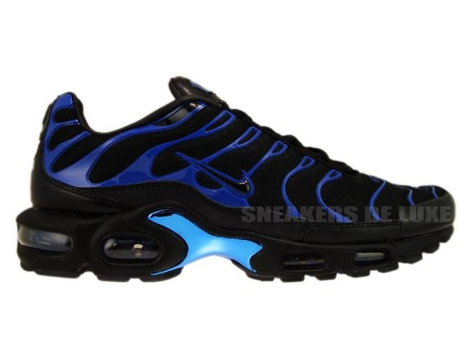 super popular 36cc4 5c378 Nike Air Max Plus TN 1 Premium Black Black-Team Royal 387179-004 ...