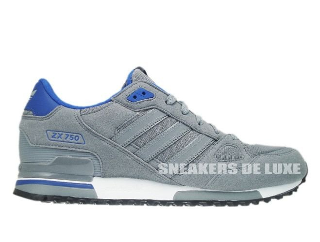 Q21311 Adidas ZX 750 Originals Tech Grey/Tech Grey/Color Royal ...