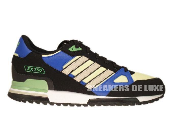online store b70e3 ced9e Q23662 Adidas ZX 750 Originals BlackBliss-Haze Yellow ...