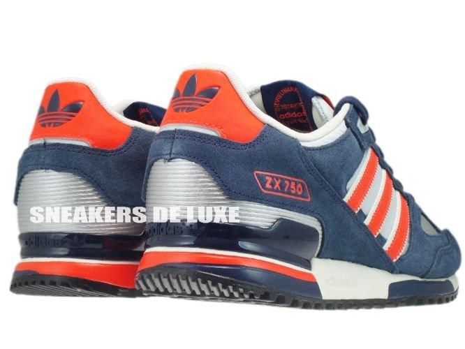 brand new b304c 7b2a3 ... canada q35491 adidas zx 750 originals light grey infrared new navy  57492 2948c