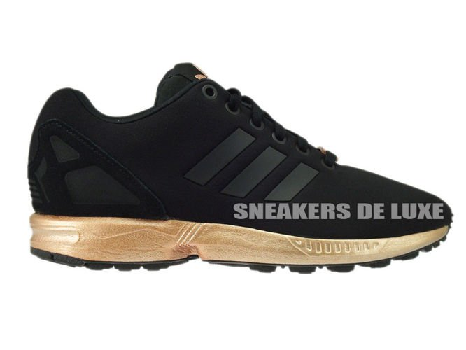 English  S78977 adidas ZX Flux core nero   core nero   copper