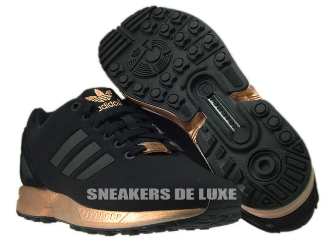 new product 78b7d 1b305 S78977 adidas ZX Flux core black / core black / copper metallic