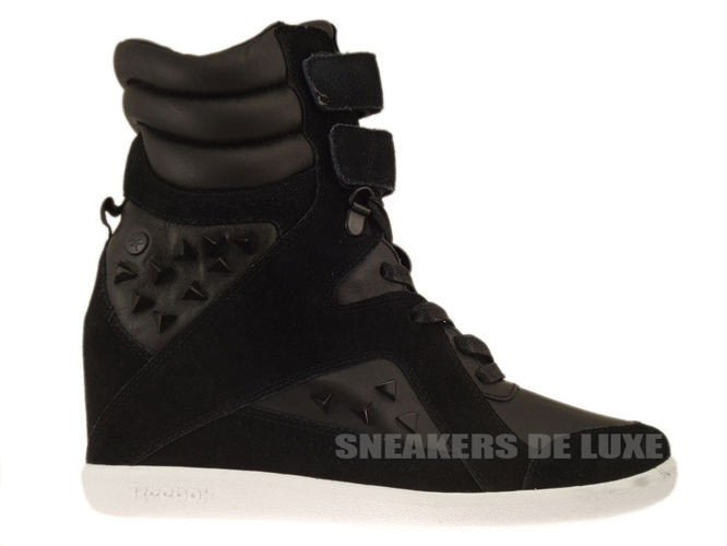 10238b83d27 English  V60905 Reebok Alicia Keys Wedge Black White V60905 Reebok ...