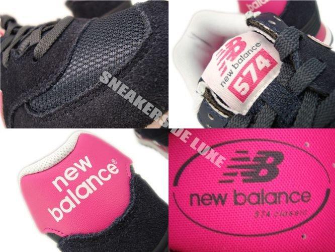 sale retailer ff876 4398e WL574CPN New Balance 574 Navy/Pink