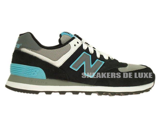 New Balance 574 Black / Light Blue / Grey
