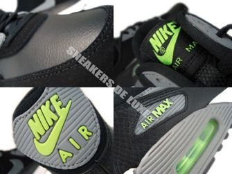 307793-085 Nike Air Max 90 Black/Cool Grey-Flash Lime-White 307793-085