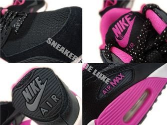 345017-017 Nike Air Max 90 Black/Dark Grey-Pink Foil-White 345017-017