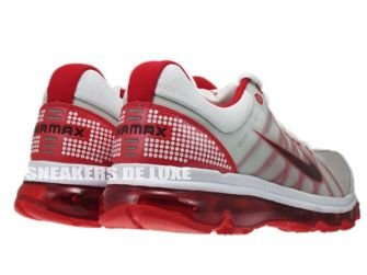 486978-166 Nike Air Max 2009+ White/Red Mahogany-Sport Red