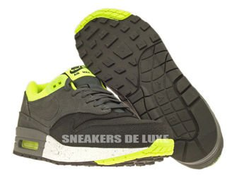 512033-002 Nike Air Max 1 Premium Black/Anthracite-Anthracite-Volt