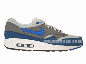 on sale bb072 b866b 537383-040 Nike Air Max 1 Essential Geyser Grey Prize Blue-Cool Grey ...